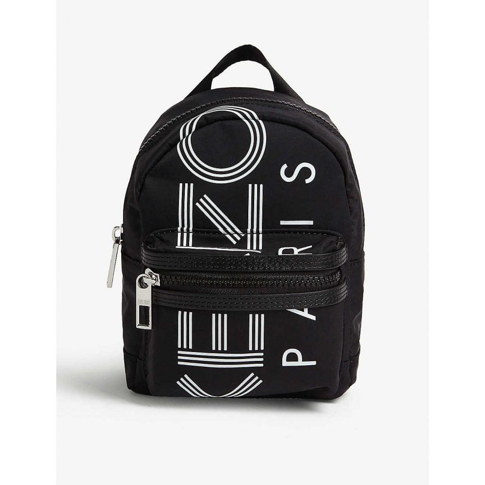 ケンゾー KENZO レディース バックパック・リュック バッグ【Logo-print mini nylon backpack】BLACK