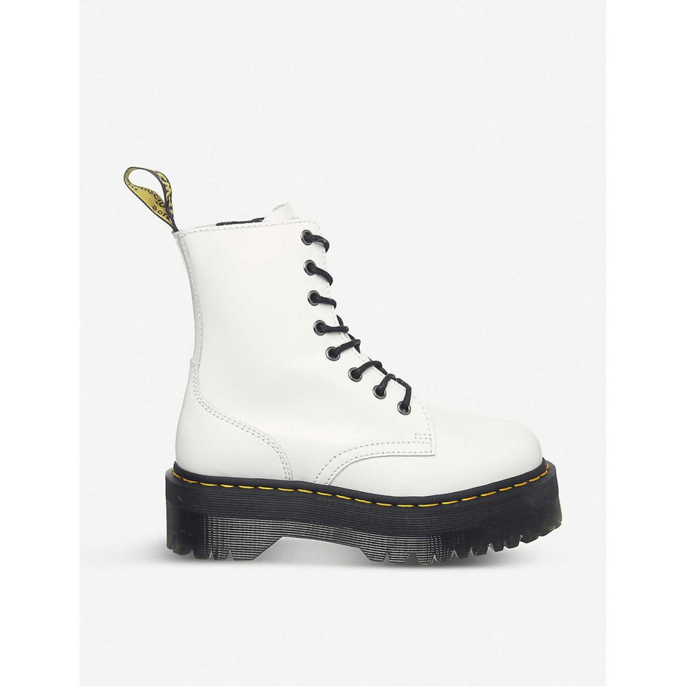 ドクターマーチン DR. MARTENS レディース ブーツ シューズ・靴【Jadon 8-eye leather platform boots】White