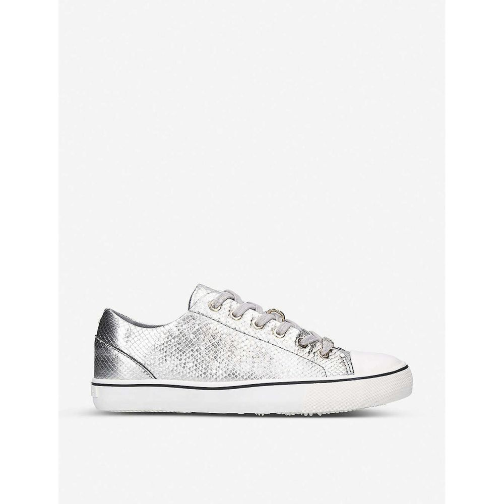 カーベラ CARVELA レディース スニーカー シューズ・靴【Legend snakeskin-embossed metallic leather trainers】SILVER