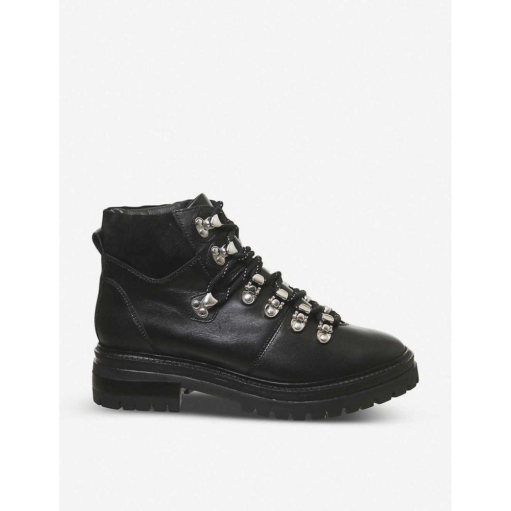 オフィス OFFICE レディース ブーツ シューズ・靴【All-above leather hiking boots】BLACK LEATHER