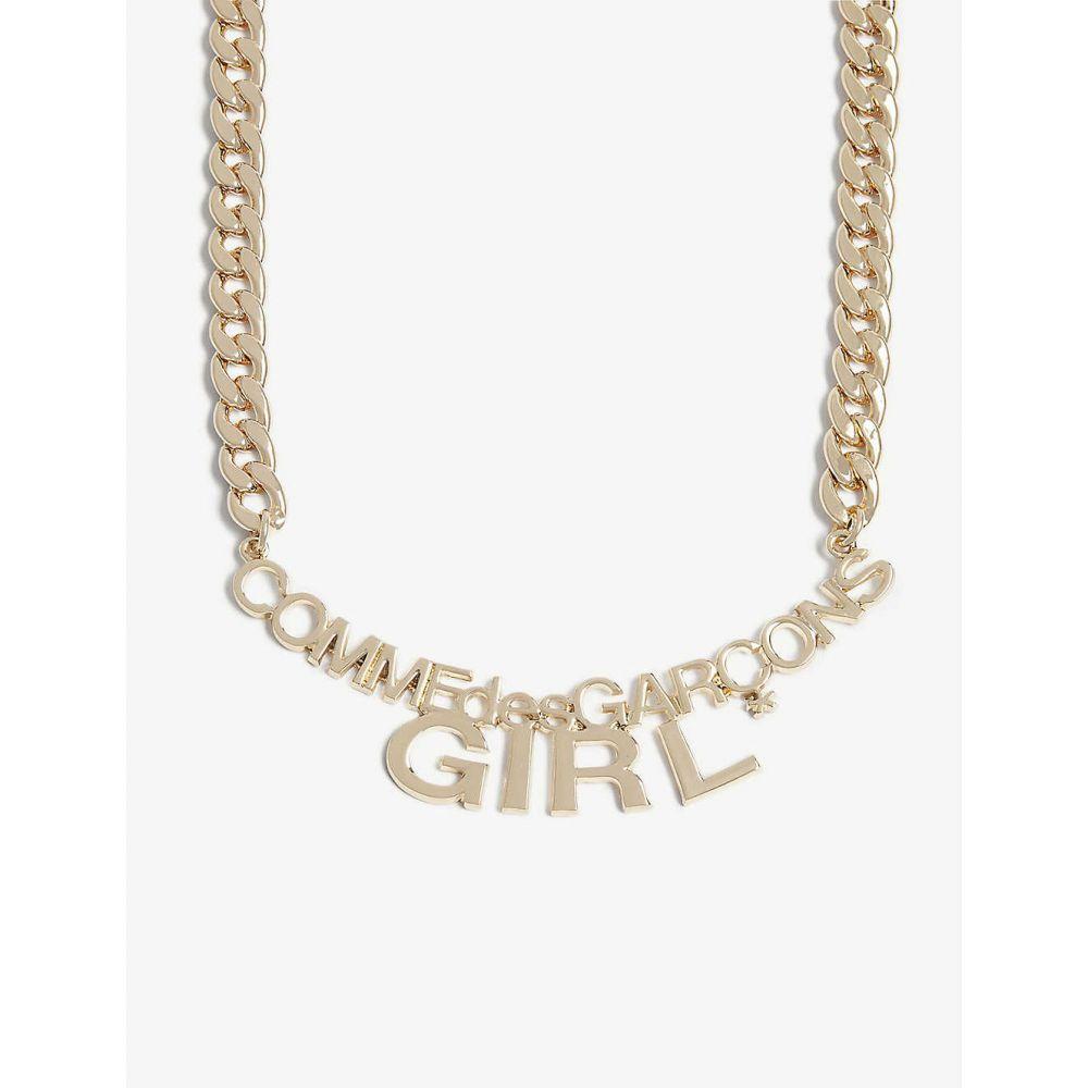 コム デ ギャルソン COMME DES GARCONS GIRL レディース ネックレス ジュエリー・アクセサリー【Curb chain logo necklace】GOLD