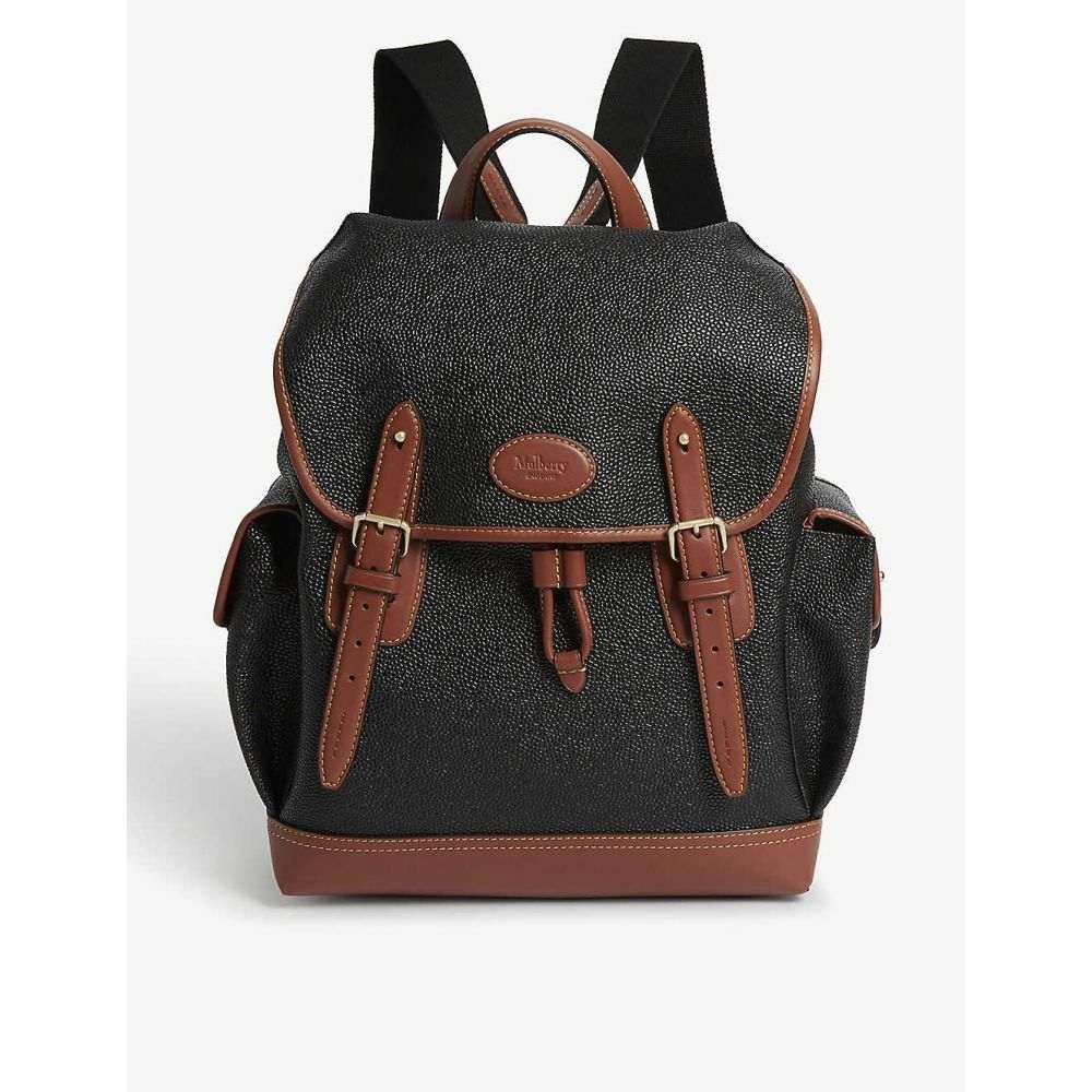 マルベリー MULBERRY レディース バックパック・リュック バッグ【Heritage Scotch grain backpack】BLACK/COGNAC