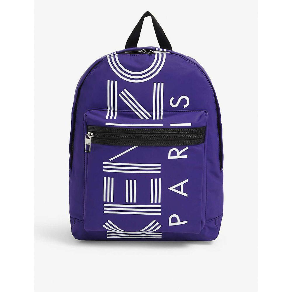 ケンゾー KENZO レディース バックパック・リュック バッグ【Logo print nylon backpack】Purple