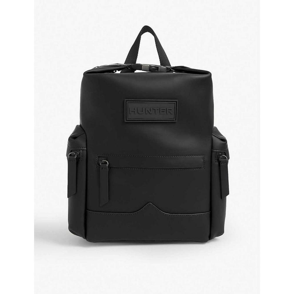 ハンター HUNTER レディース バックパック・リュック バッグ【Original Top Clip rubberised mini leather backpack】BLACK