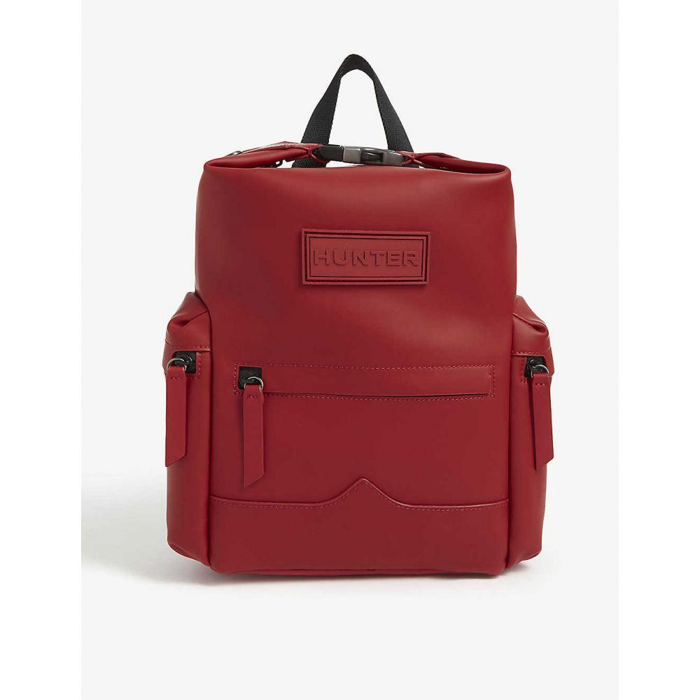 ハンター HUNTER レディース バックパック・リュック バッグ【Original Top Clip rubberised mini leather backpack】Military Red