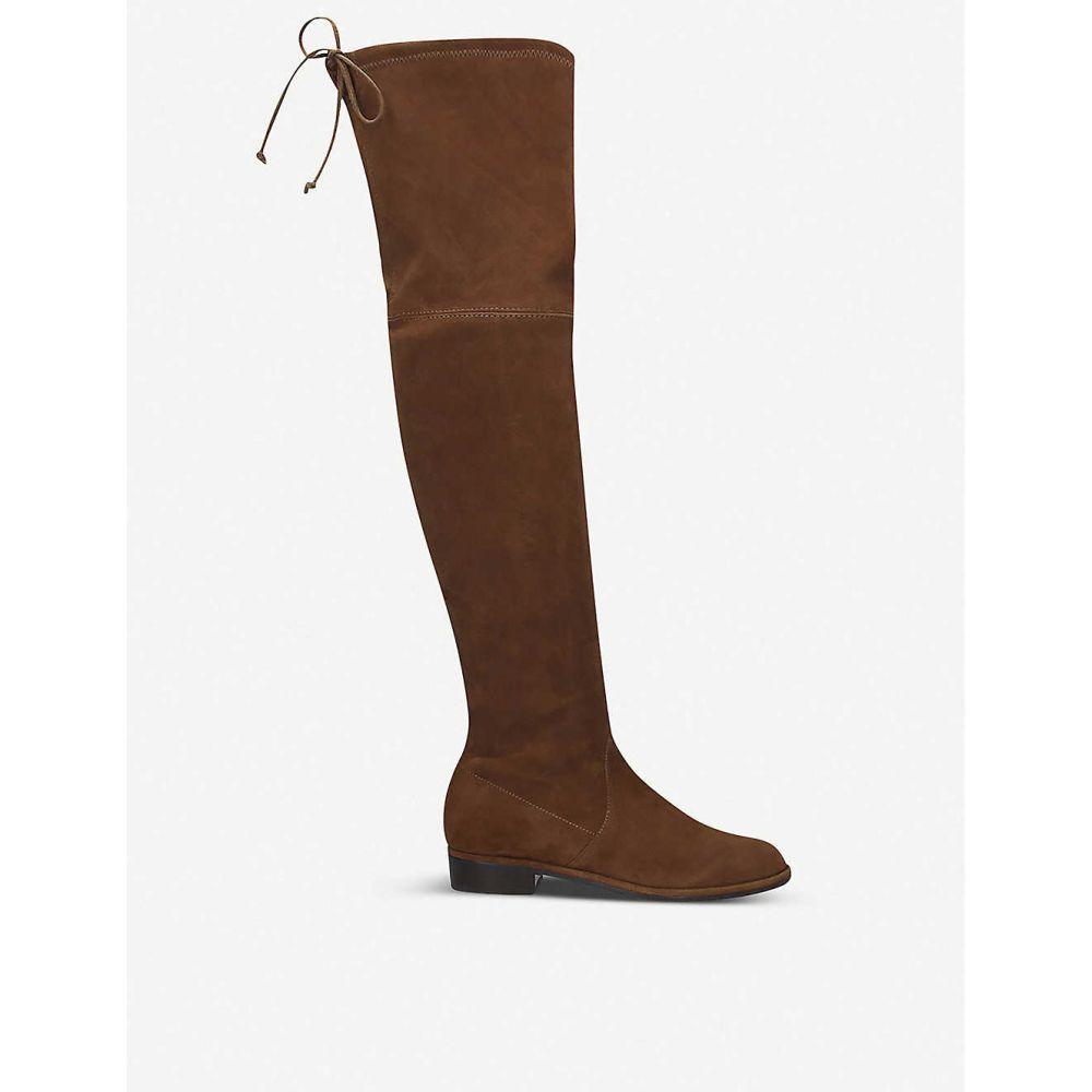スチュアート ワイツマン STUART WEITZMAN レディース ブーツ シューズ・靴【Lowland suede thigh boots】DARK BROWN