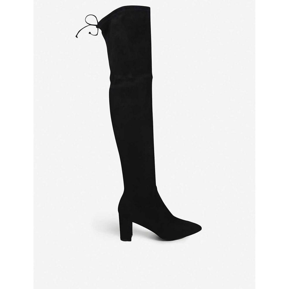 スチュアート ワイツマン STUART WEITZMAN レディース ブーツ シューズ・靴【Lesley 75 stretch-suede over-the-knee boots】BLACK