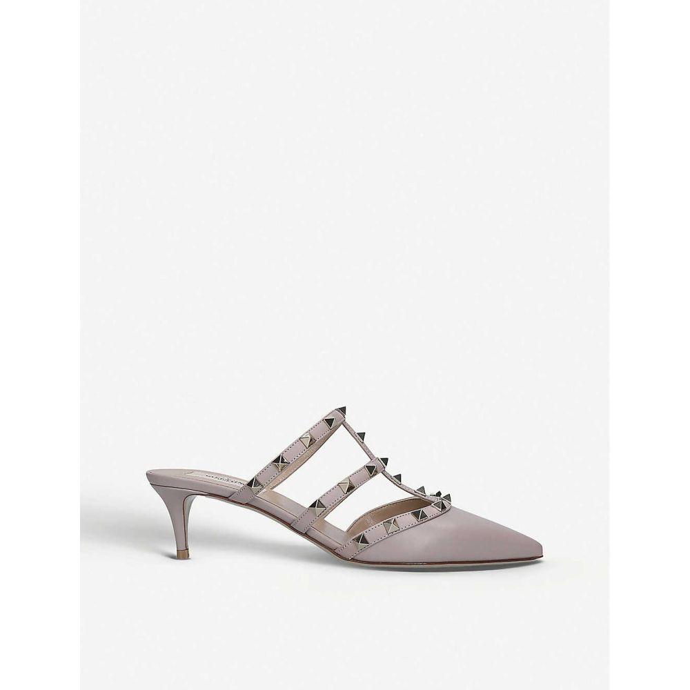 ヴァレンティノ VALENTINO レディース サンダル・ミュール シューズ・靴【Rockstud leather mules】PALE PINK
