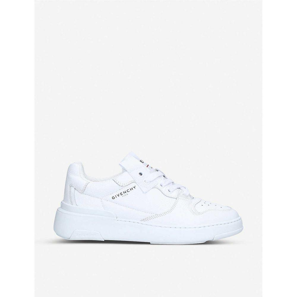 ジバンシー GIVENCHY レディース スニーカー シューズ・靴【Wing grained-leather low-top trainers】WHITE