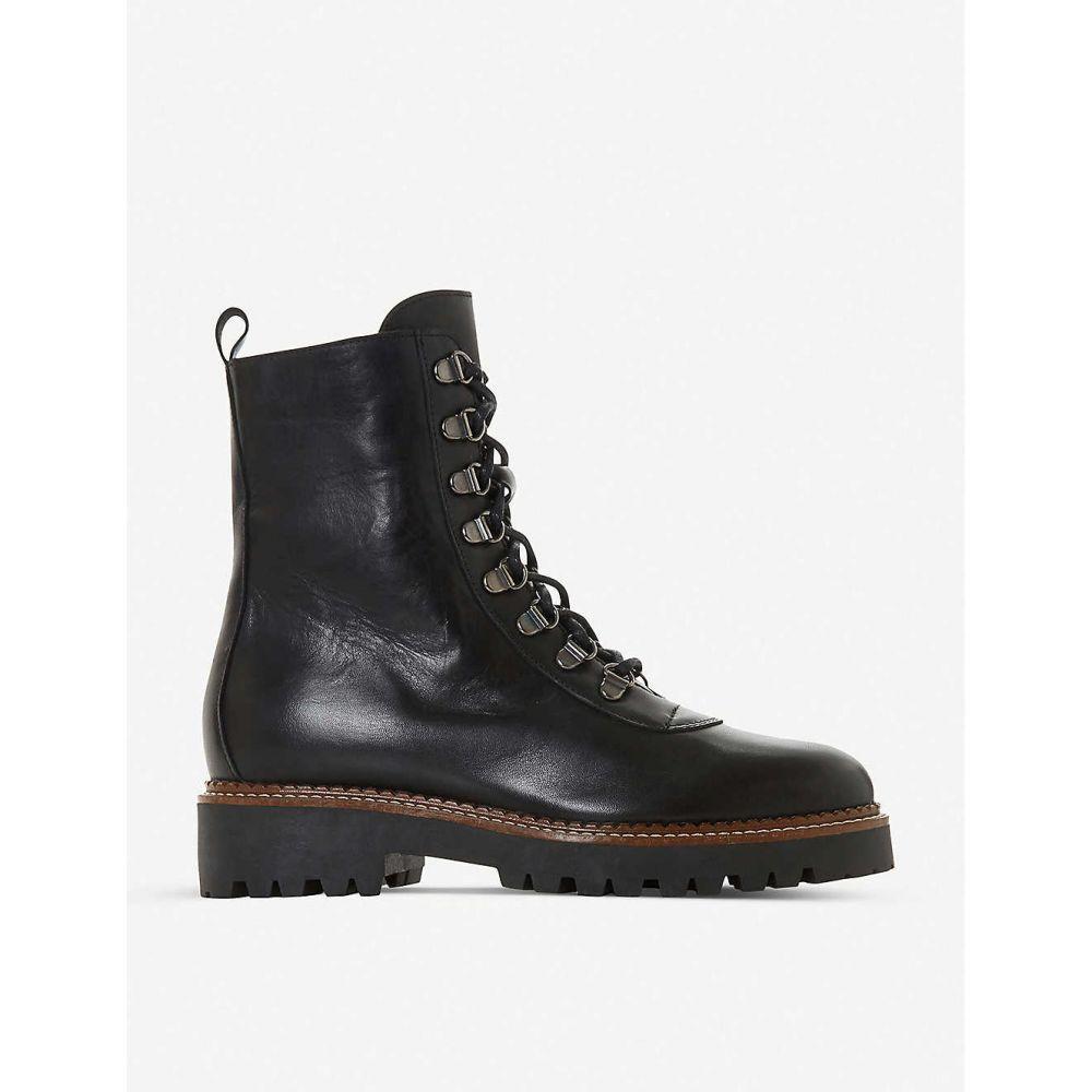 デューン DUNE レディース ブーツ レースアップブーツ シューズ・靴【Parise lace-up leather boots】BLACK/LEATHER
