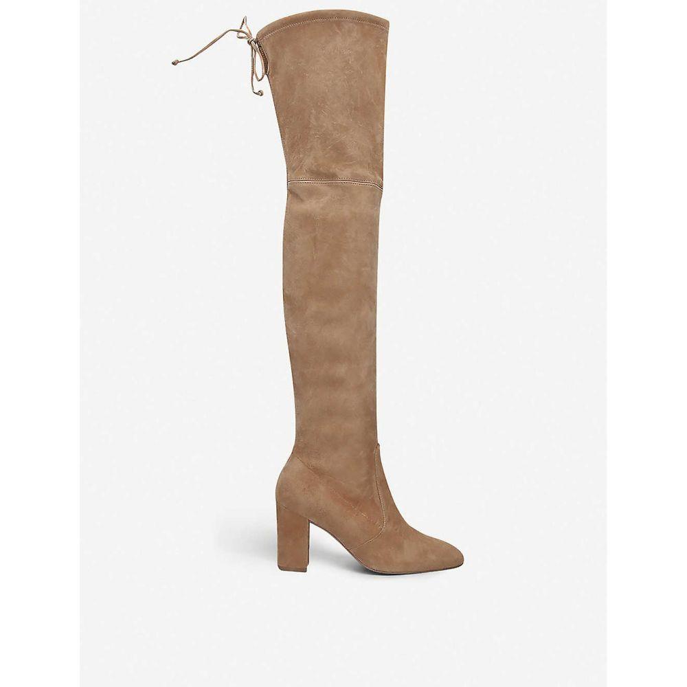 スチュアート ワイツマン STUART WEITZMAN レディース ブーツ シューズ・靴【Zuzanna 80 stretch-suede over-the-knee boots】TAN