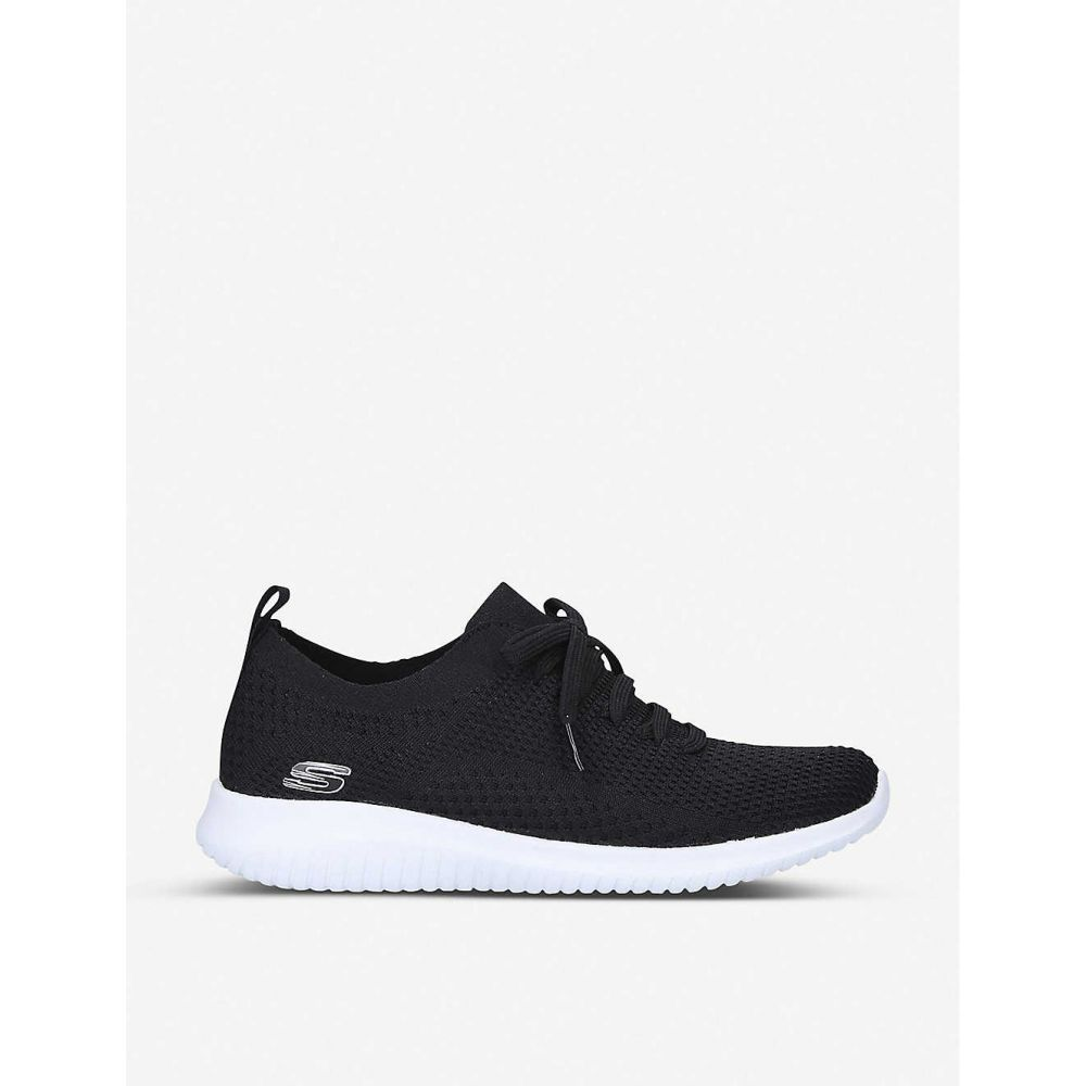 スケッチャーズ SKECHERS レディース スニーカー シューズ・靴【Ultra Flex nylon and mesh trainers】BLACK