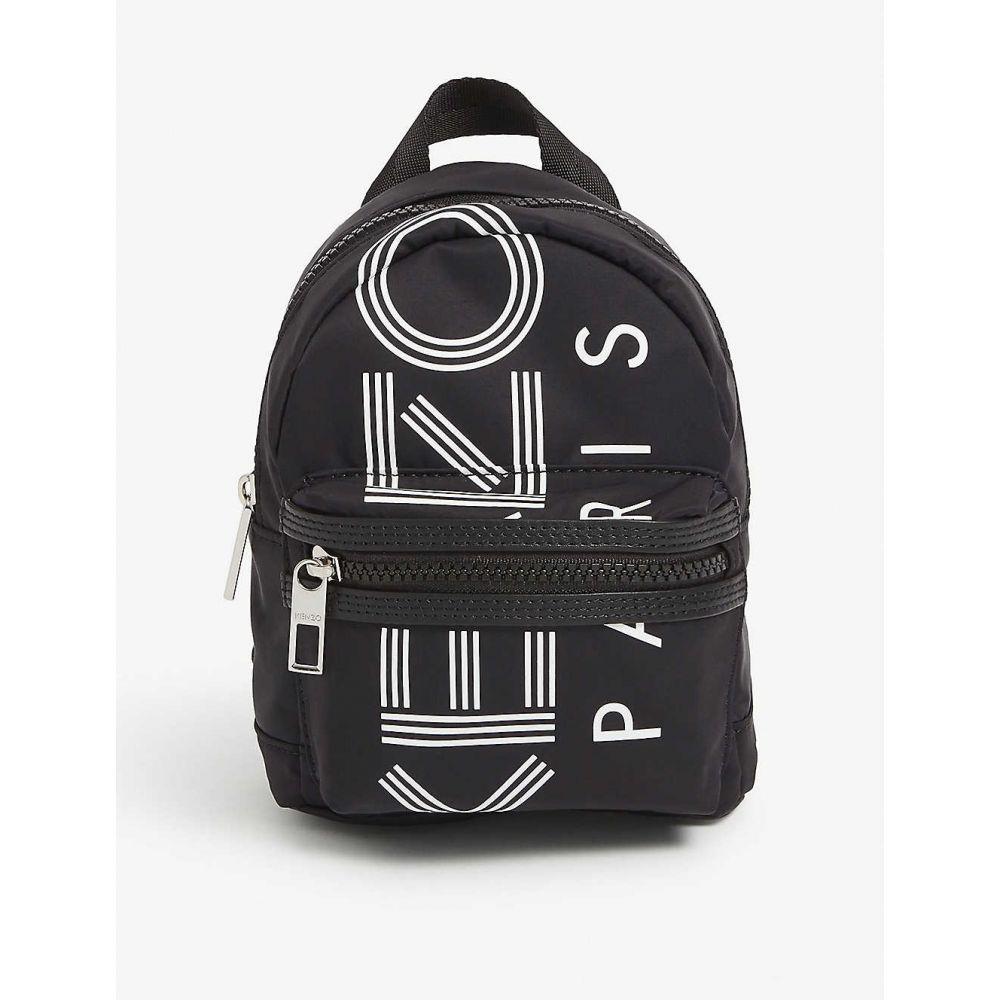 ケンゾー KENZO レディース バックパック・リュック バッグ【Mini logo print backpack】BLACK