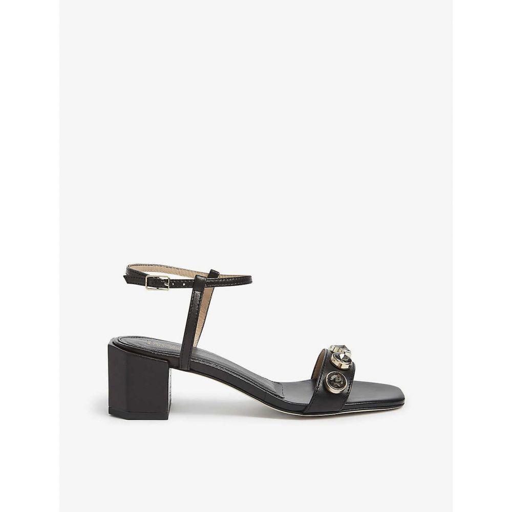 クローディ ピエルロ CLAUDIE PIERLOT レディース サンダル・ミュール シューズ・靴【Abbey gem-embellished leather sandals】BLACK