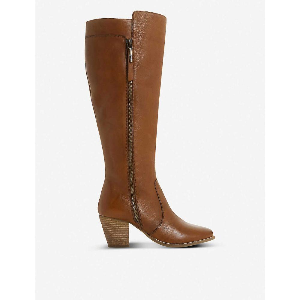 デューン DUNE レディース ブーツ シューズ・靴【Tiana knee-high leather boots】DARK TAN/LEATHER