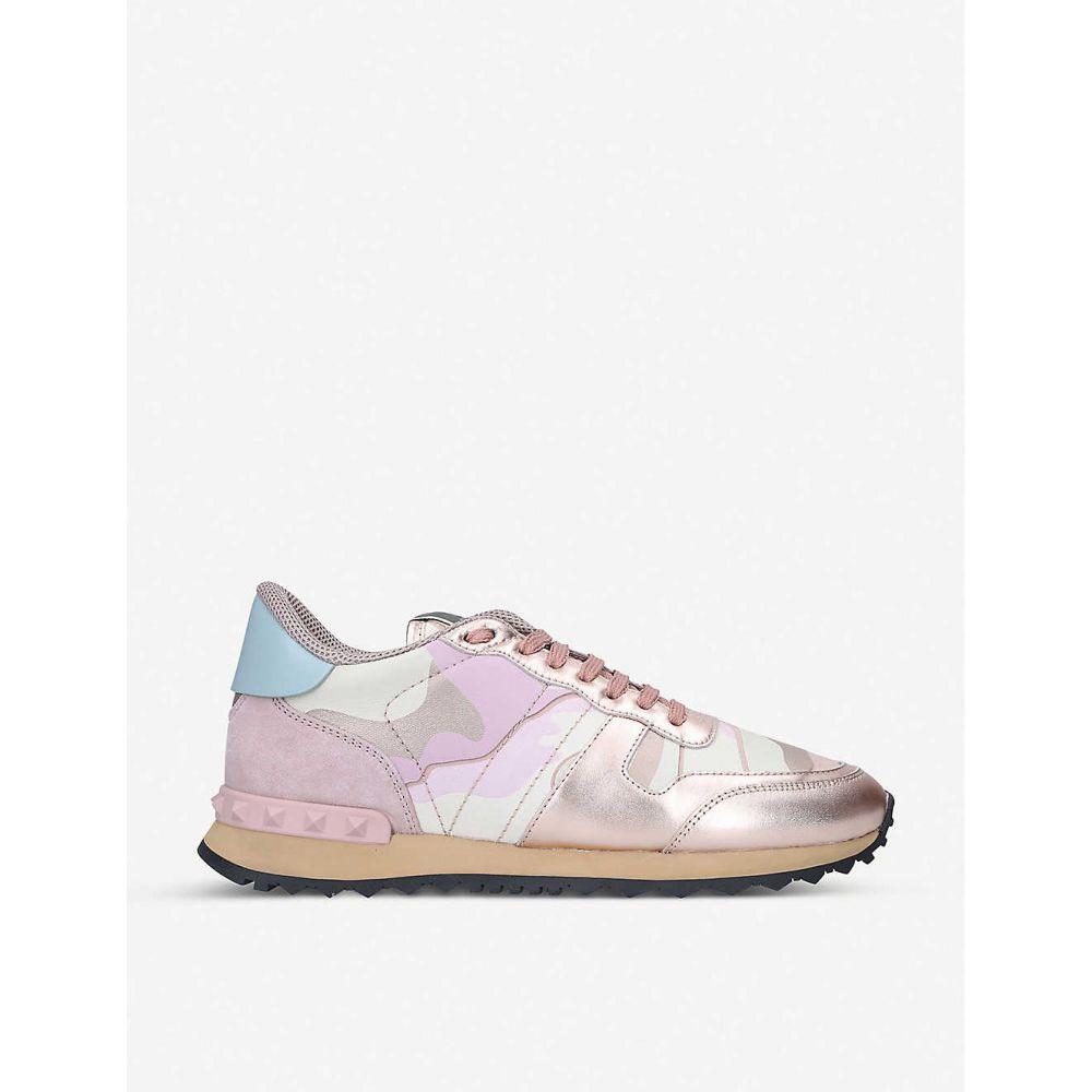 ヴァレンティノ VALENTINO レディース スニーカー シューズ・靴【Rockrunner camo-print leather trainers】PINK COMB
