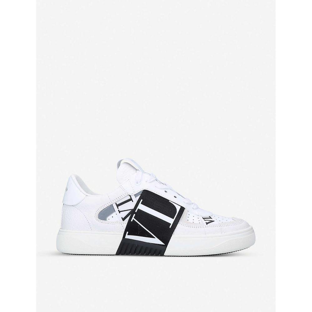 ヴァレンティノ VALENTINO レディース スニーカー シューズ・靴【VL7N logo-embellished leather trainers】WHITE/BLK