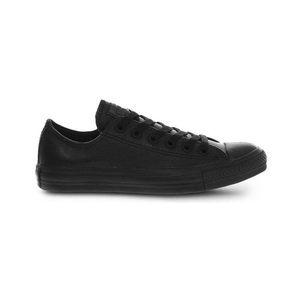 リーボック REEBOK レディース スニーカー シューズ・靴【All Star low-top leather trainers】BLACK