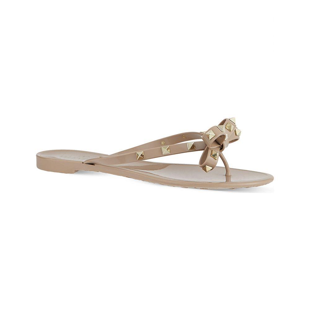 ヴァレンティノ VALENTINO レディース ビーチサンダル シューズ・靴【Rockstud-embellished flip-flops】NUDE
