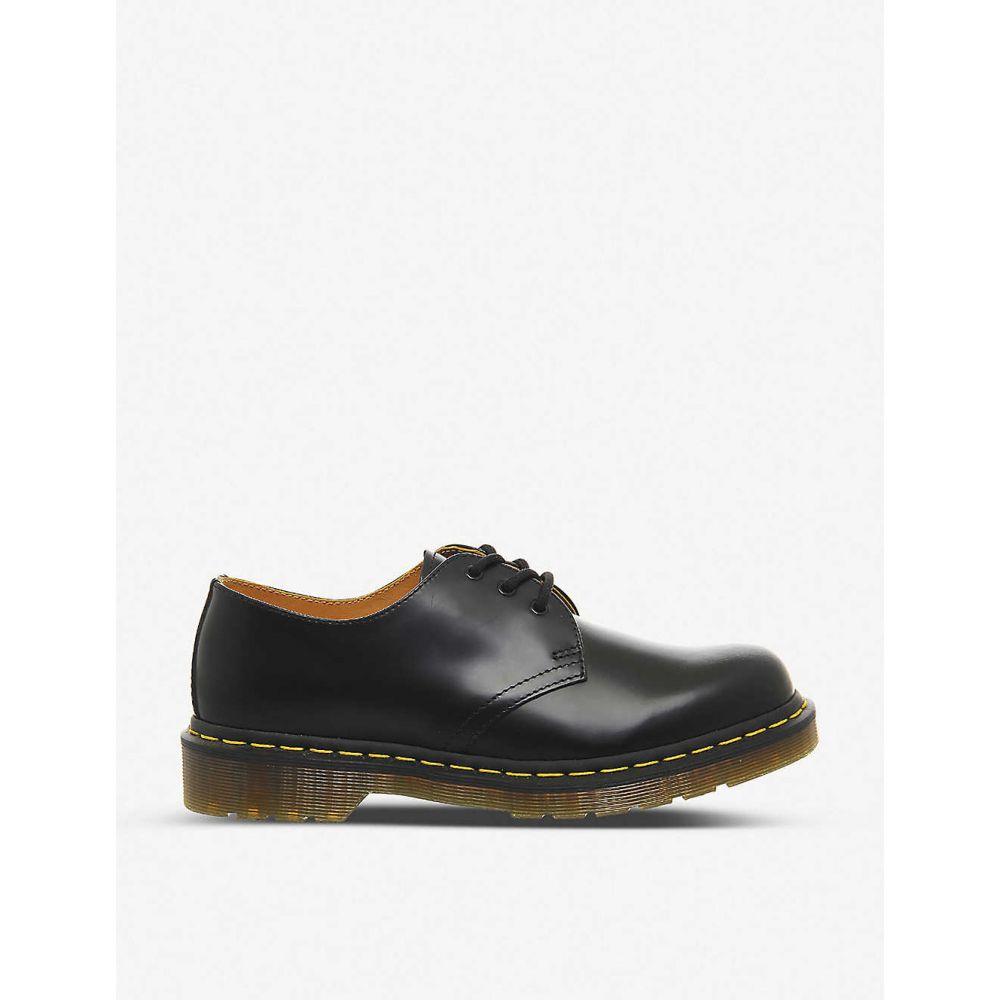 ドクターマーチン DR. MARTENS レディース ローファー・オックスフォード シューズ・靴【3-eyelet leather shoes】BLACK LEATHER