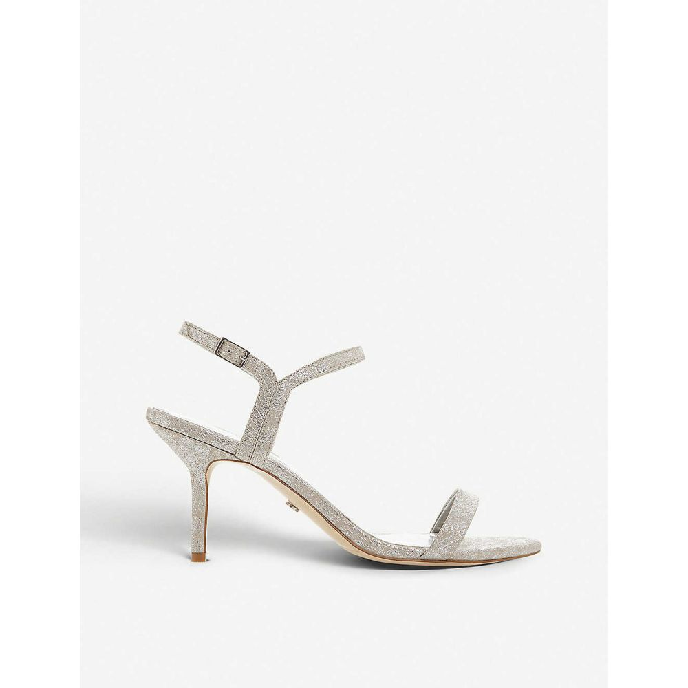 デューン DUNE レディース サンダル・ミュール シューズ・靴【Monicco Barely There faux-leather heeled sandals】Silver/synthetic