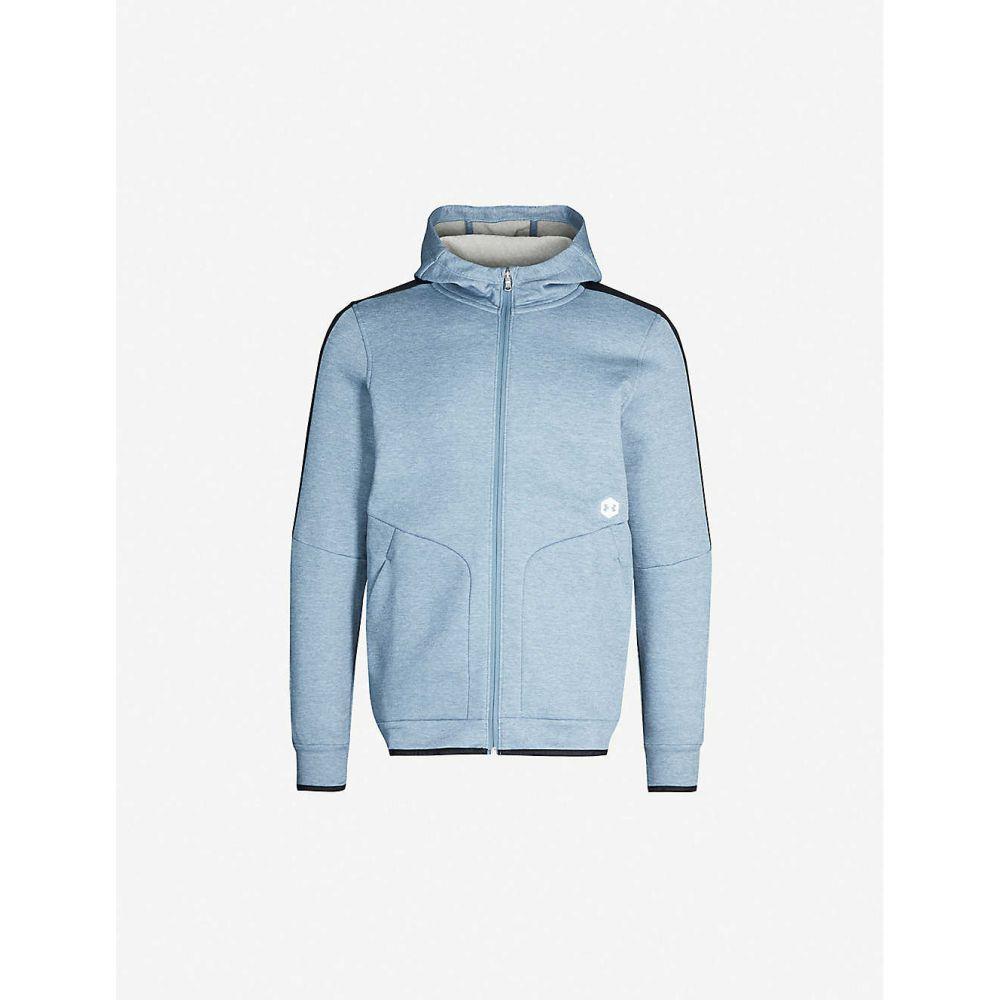 アンダーアーマー UNDER ARMOUR メンズ フリース トップス【Recovery zipped fleece jacket】Ash Gray Metallic Silver