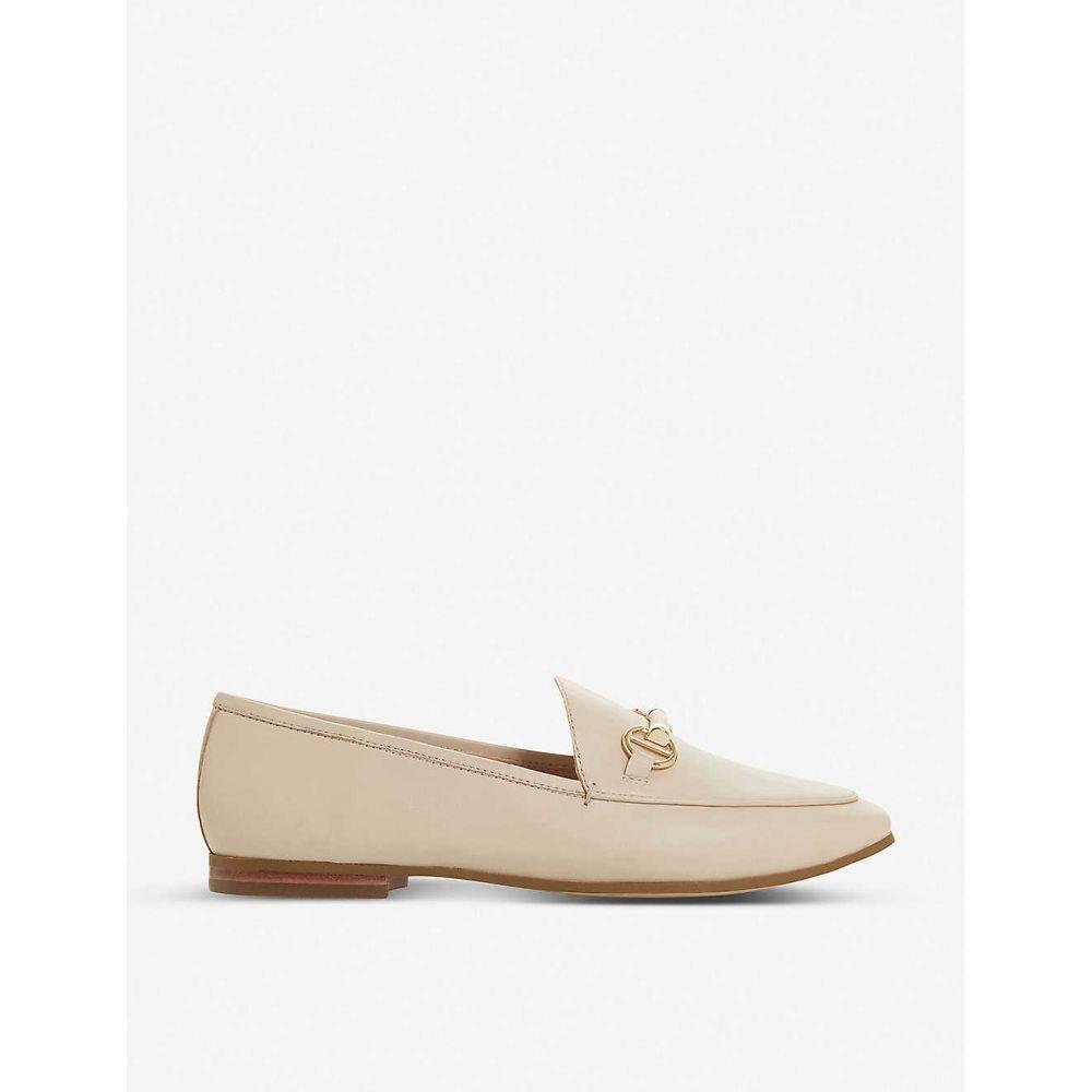 デューン DUNE レディース ローファー・オックスフォード シューズ・靴【Guiltt snaffle trim leather loafers】ECRU/LEATHER
