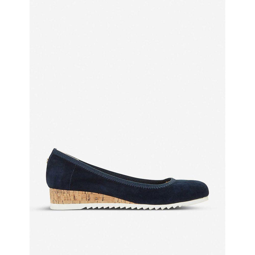 デューン DUNE レディース ローファー・オックスフォード シューズ・靴【Action suede flatform loafers】NAVY/SUEDE