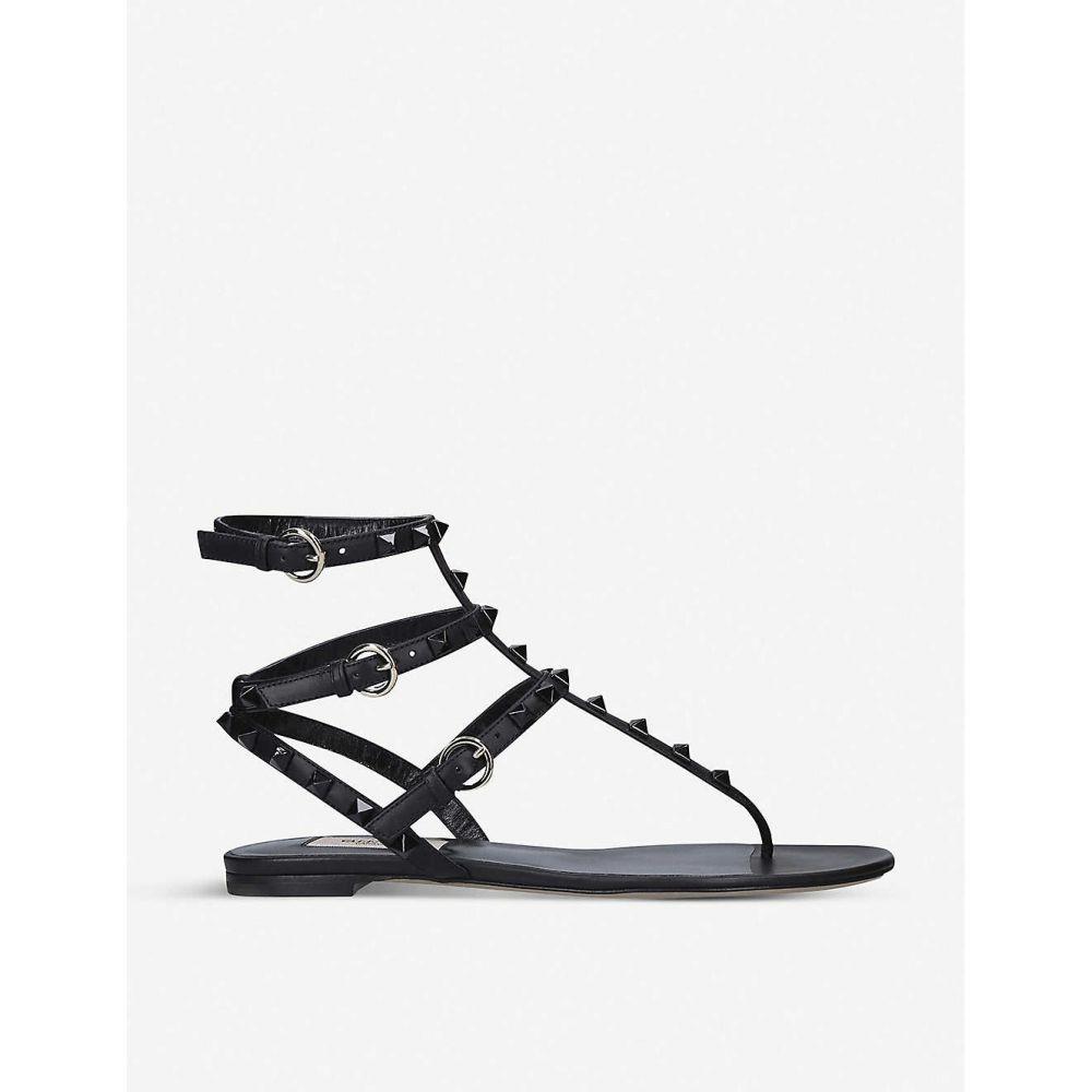 ヴァレンティノ VALENTINO レディース サンダル・ミュール シューズ・靴【Rockstud leather sandals】BLACK