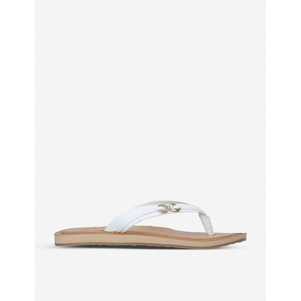 アルド ALDO レディース ビーチサンダル シューズ・靴【Alkira leather thong sandals】WHITE
