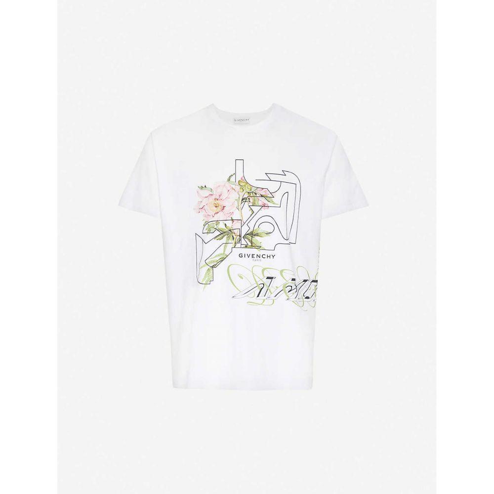 ジバンシー GIVENCHY メンズ Tシャツ トップス【Graphic-print cotton-jersey T-shirt】White