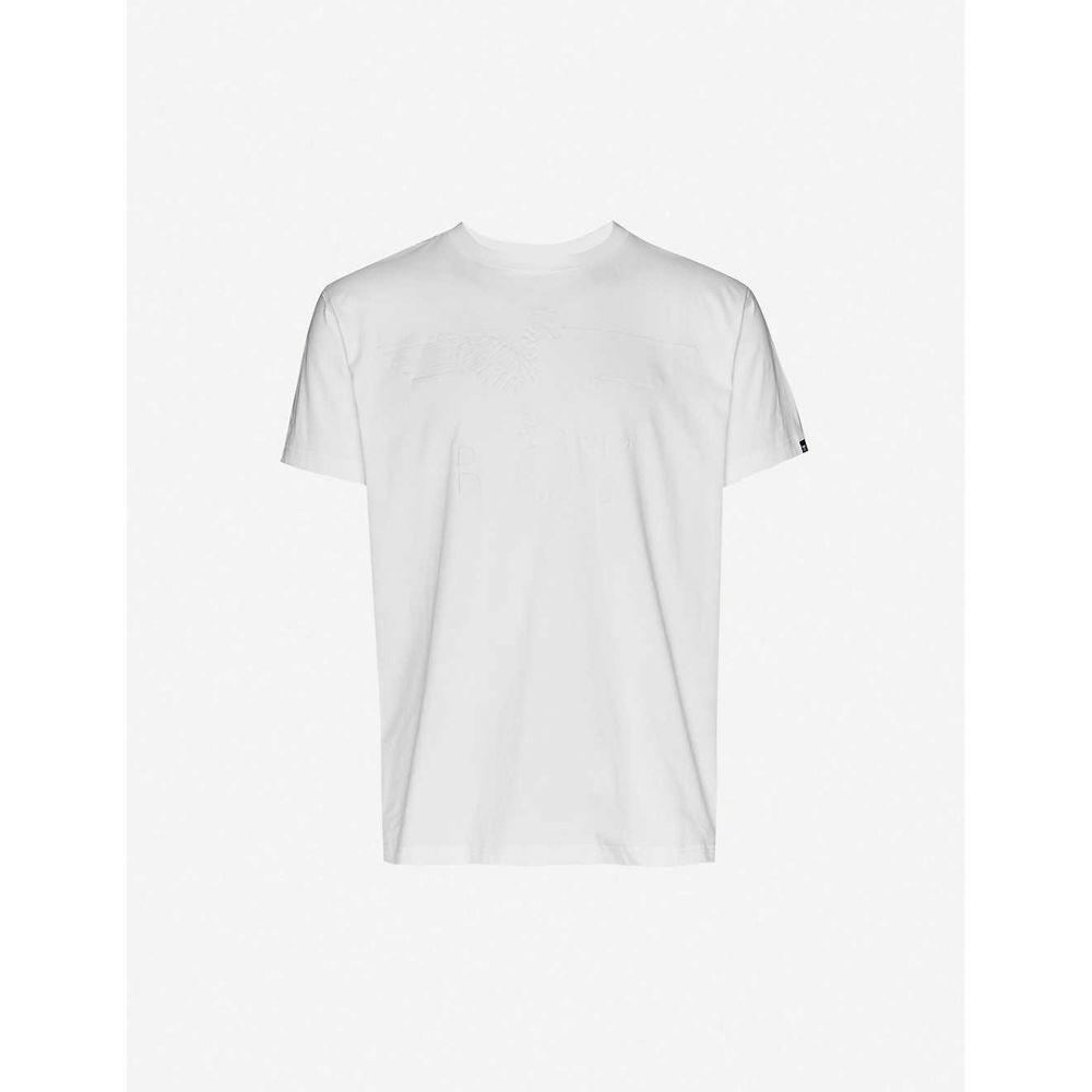 ボーイロンドン BOY LONDON メンズ Tシャツ トップス【Brand-embossed crewneck cotton-jersey T-shirt】Off White
