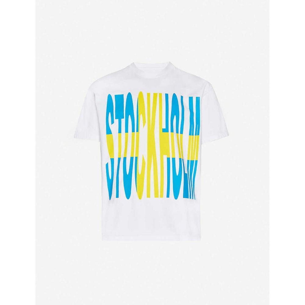 ビッグ割引 アウグ AWGE メンズ Tシャツ トップス トップス【VLONE【VLONE x Stockholm Tシャツ graphic-print AWGE cotton-jersey T-shirt】White:フェルマート, ALEX PC:32ef9062 --- nagari.or.id