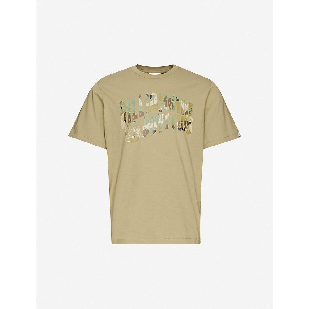 ビリオネアボーイズクラブ BILLIONAIRE BOYS CLUB メンズ Tシャツ トップス【Camouflage brand-print cotton-jersey T-shirt】Sage