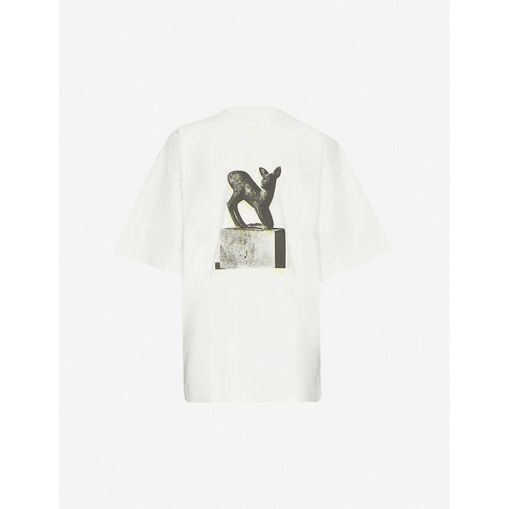 オーエーエムシー OAMC メンズ Tシャツ トップス【Dream graphic-print cotton-jersey T-shirt】Off White