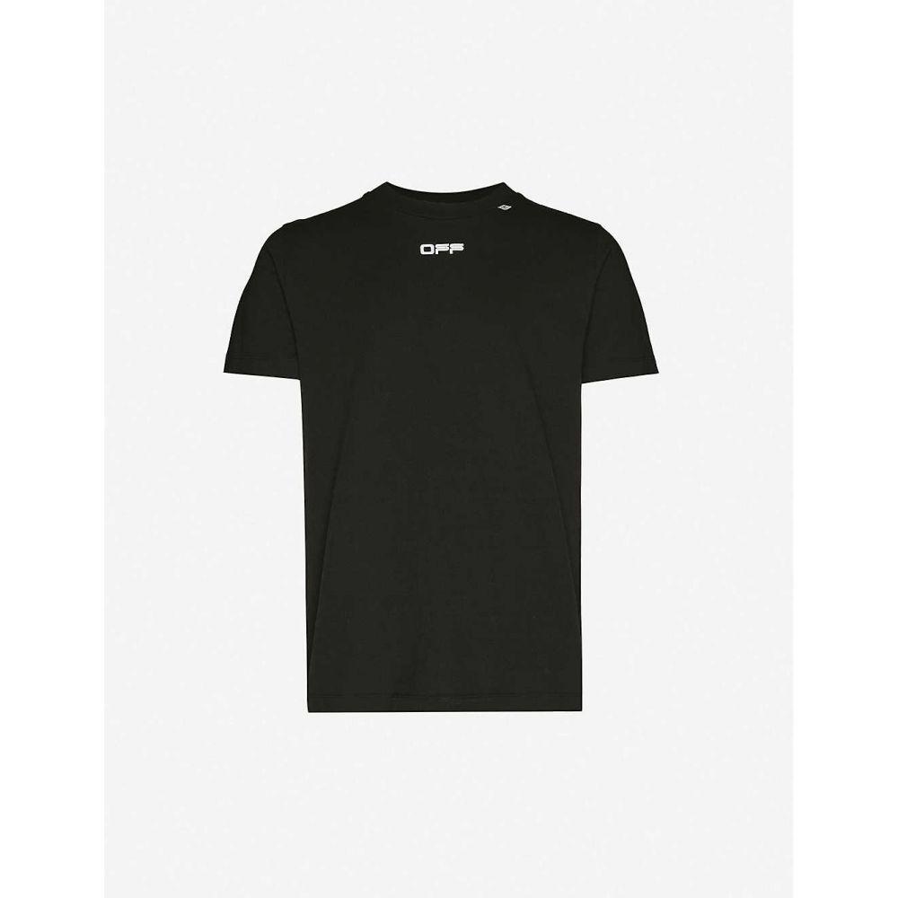 オフホワイト OFF-WHITE C/O VIRGIL ABLOH メンズ Tシャツ トップス【Caravaggio Arrows cotton-jersey slim T-shirt】BLACK MULT