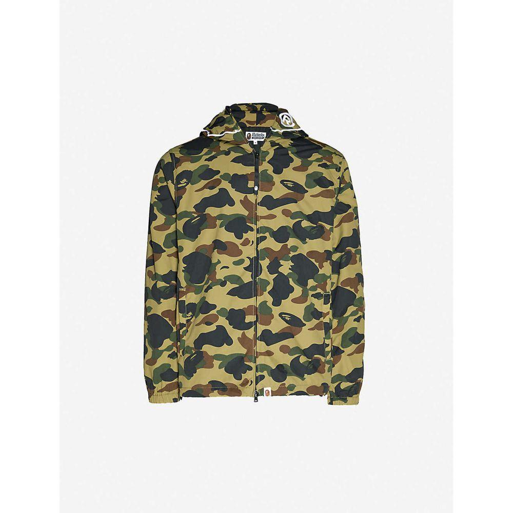 ア ベイシング エイプ A BATHING APE メンズ ジャケット フード アウター【1st Camo 2nd Ape zip-up hooded jacket】GREEN
