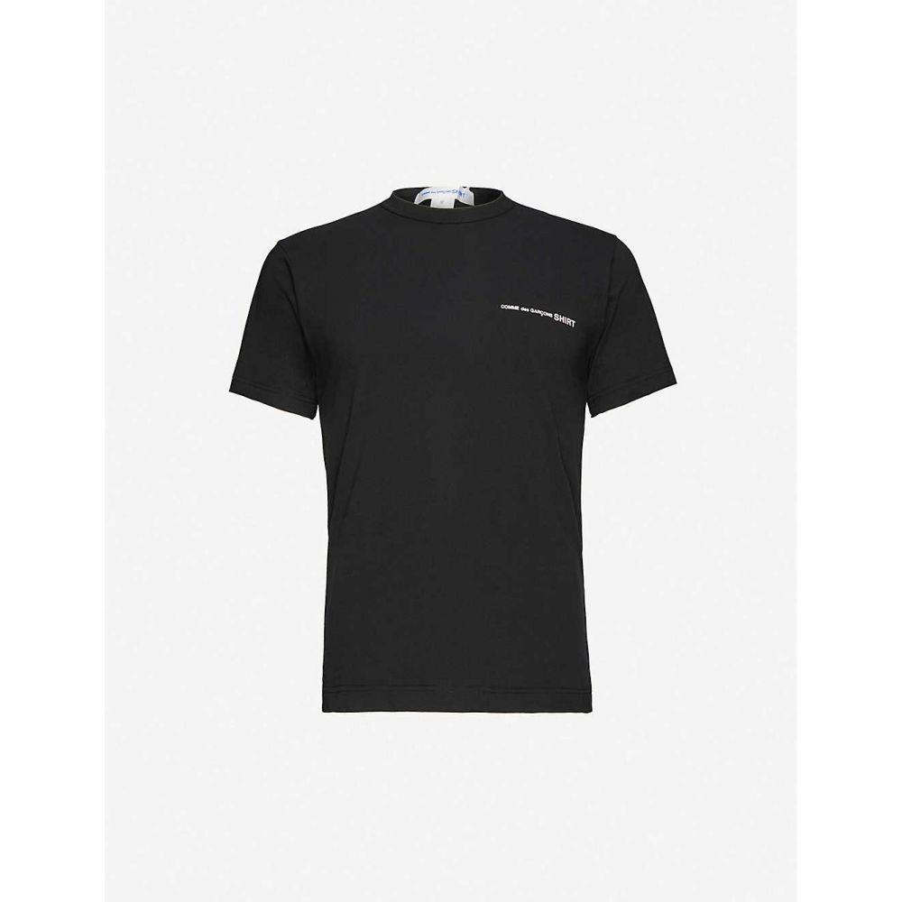 コム デ ギャルソン COMME DES GARCONS SHIRT メンズ Tシャツ トップス【Logo cotton T-shirt】BLACK
