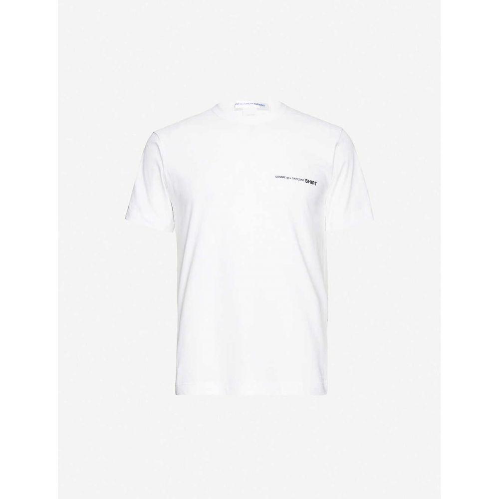 コム デ ギャルソン COMME DES GARCONS SHIRT メンズ Tシャツ トップス【Logo cotton T-shirt】White