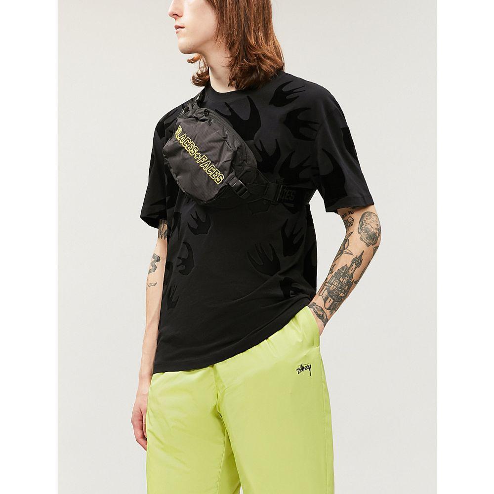 アレキサンダー マックイーン MCQ ALEXANDER MCQUEEN メンズ Tシャツ トップス【Swallow-print cotton-jersey T-shirt】DARKEST BLACK