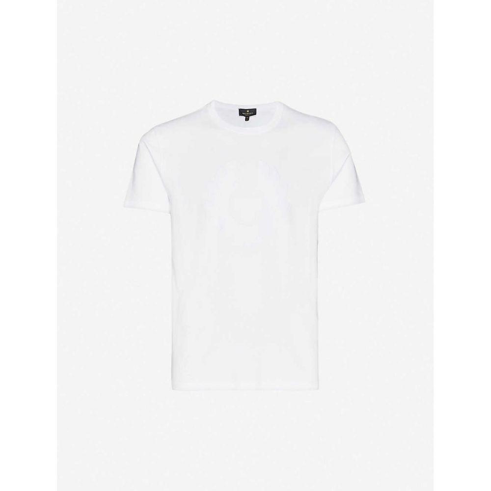 ベルスタッフ BELSTAFF メンズ Tシャツ トップス【Logo-print cotton-jersey T-shirt】White