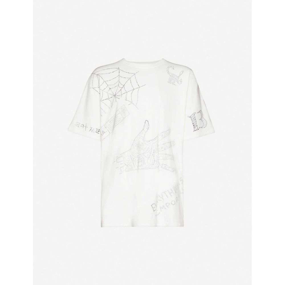 ハーキュラ HACULLA メンズ Tシャツ トップス【Mixed Mania graphic-print cotton-jersey T-shirt】Off White