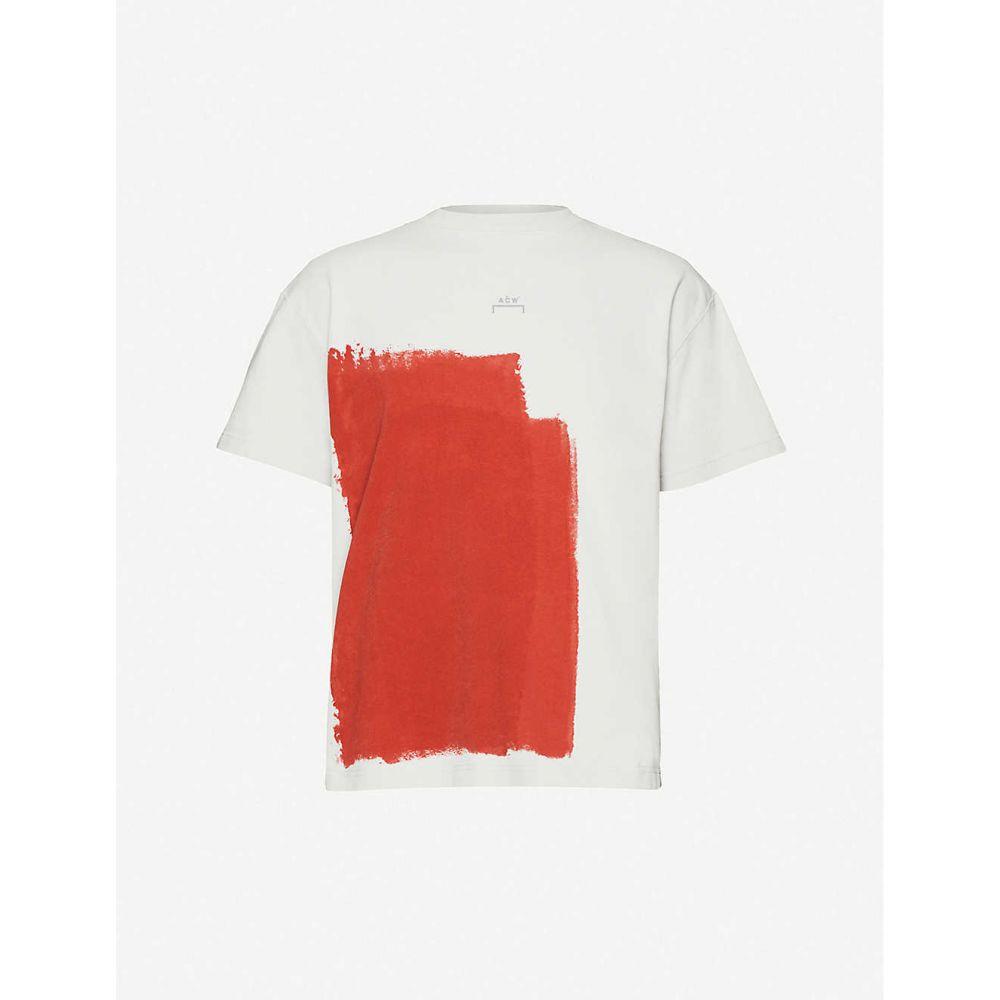 アコールドウォール A-COLD-WALL メンズ Tシャツ トップス【Block-paint cotton-jersey T-shirt】Grey Violet