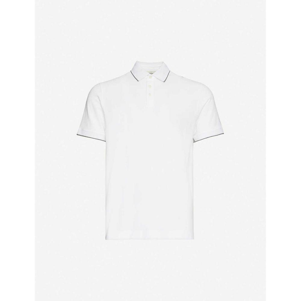 ジーゼニア Z ZEGNA メンズ ポロシャツ トップス【Brand-applique slim-fit cotton-stretch polo shirt】White