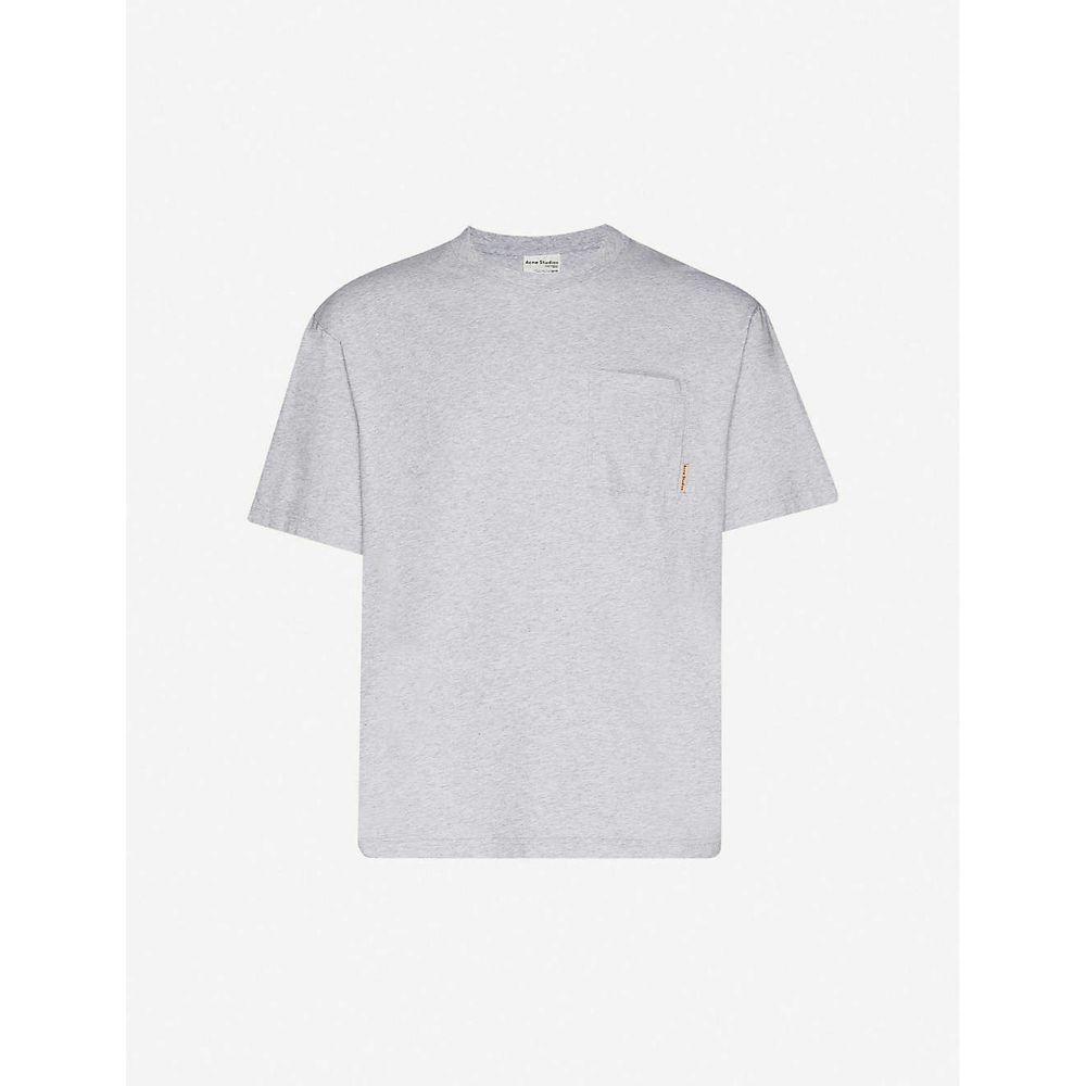 アクネ ストゥディオズ ACNE STUDIOS メンズ Tシャツ ポケット トップス【Patch pocket cotton-jersey T-shirt】Grey