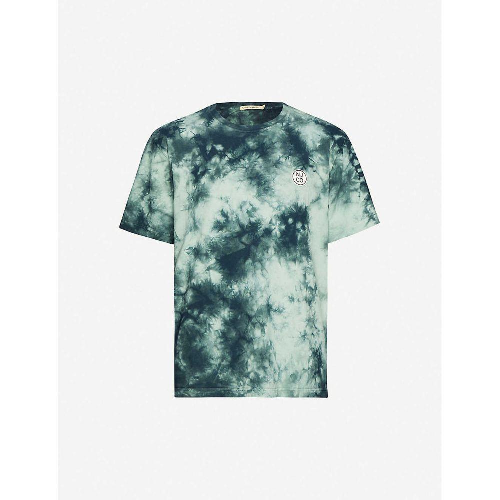 ヌーディージーンズ NUDIE JEANS メンズ Tシャツ トップス【Uno logo-print cotton-jersey T-shirt】Pale Green