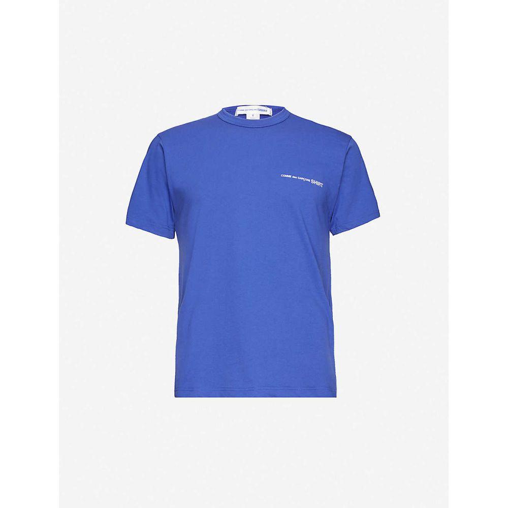 コム デ ギャルソン COMME DES GARCONS SHIRT メンズ Tシャツ トップス【Logo-print cotton T-shirt】BLUE