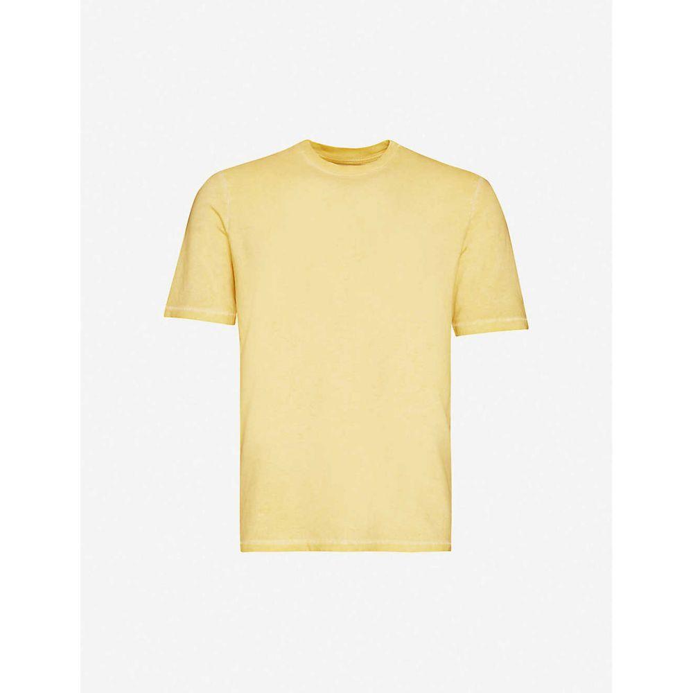 フォーク FOLK メンズ Tシャツ トップス【Assembly classic-fit crewneck cotton-jersey T-shirt】Cold Dye Light Gold