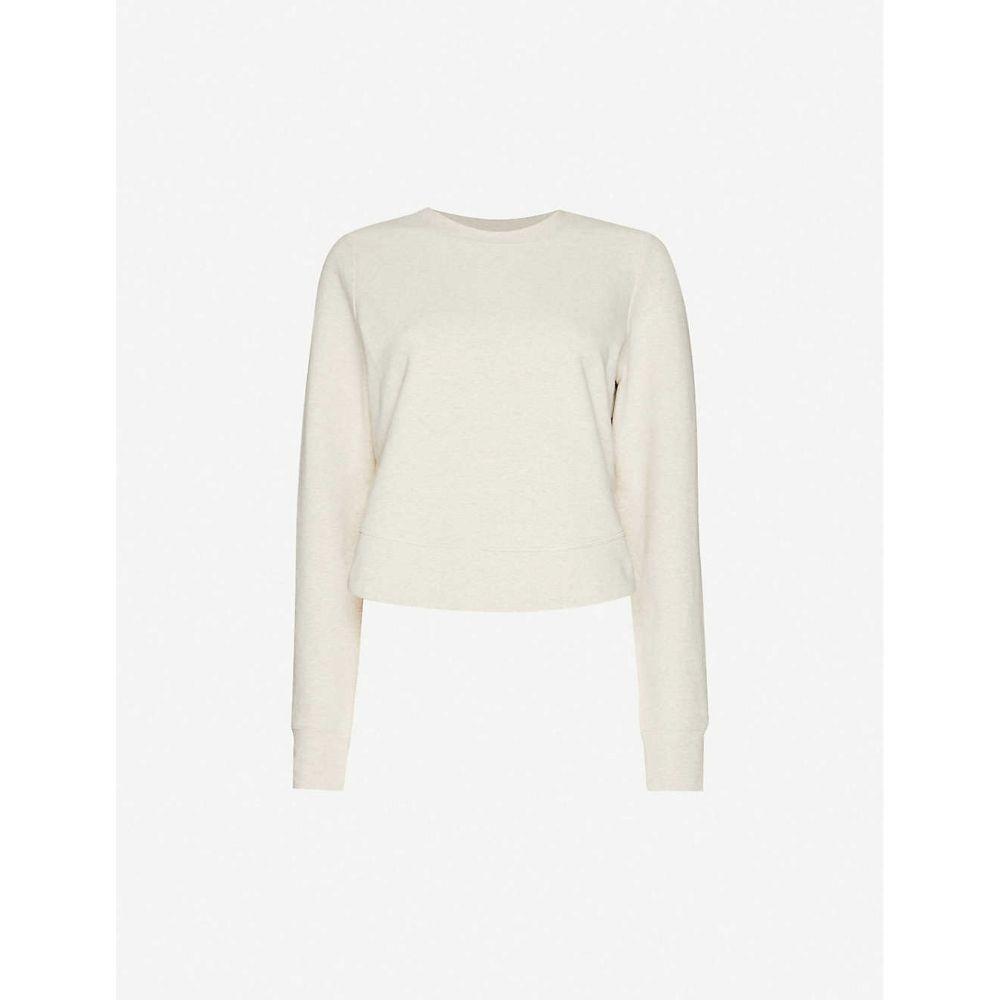 ローナジェーン LORNA JANE レディース トップス 【Logo-print stretch-cotton top】Off White Marl