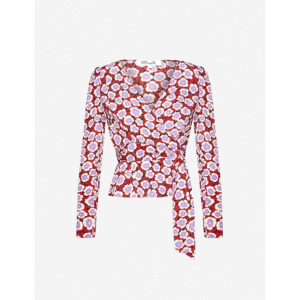 ダイアン フォン ファステンバーグ DIANE VON FURSTENBERG レディース トップス 【Alexia floral-print silk wrap top】Daisies Poinsettia